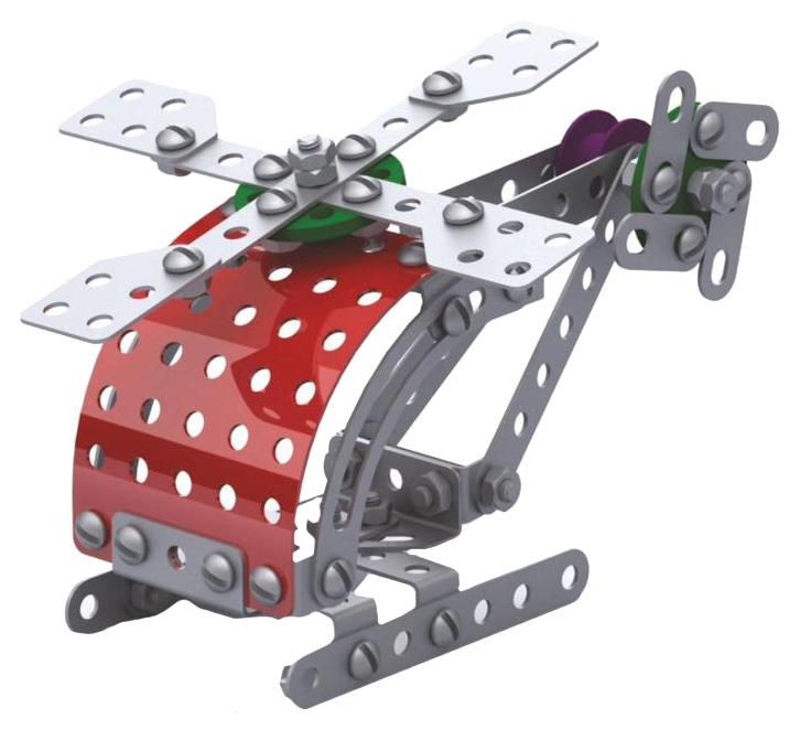 Конструктор металлический Десятое Королевство Вертолет 02028ДК фото