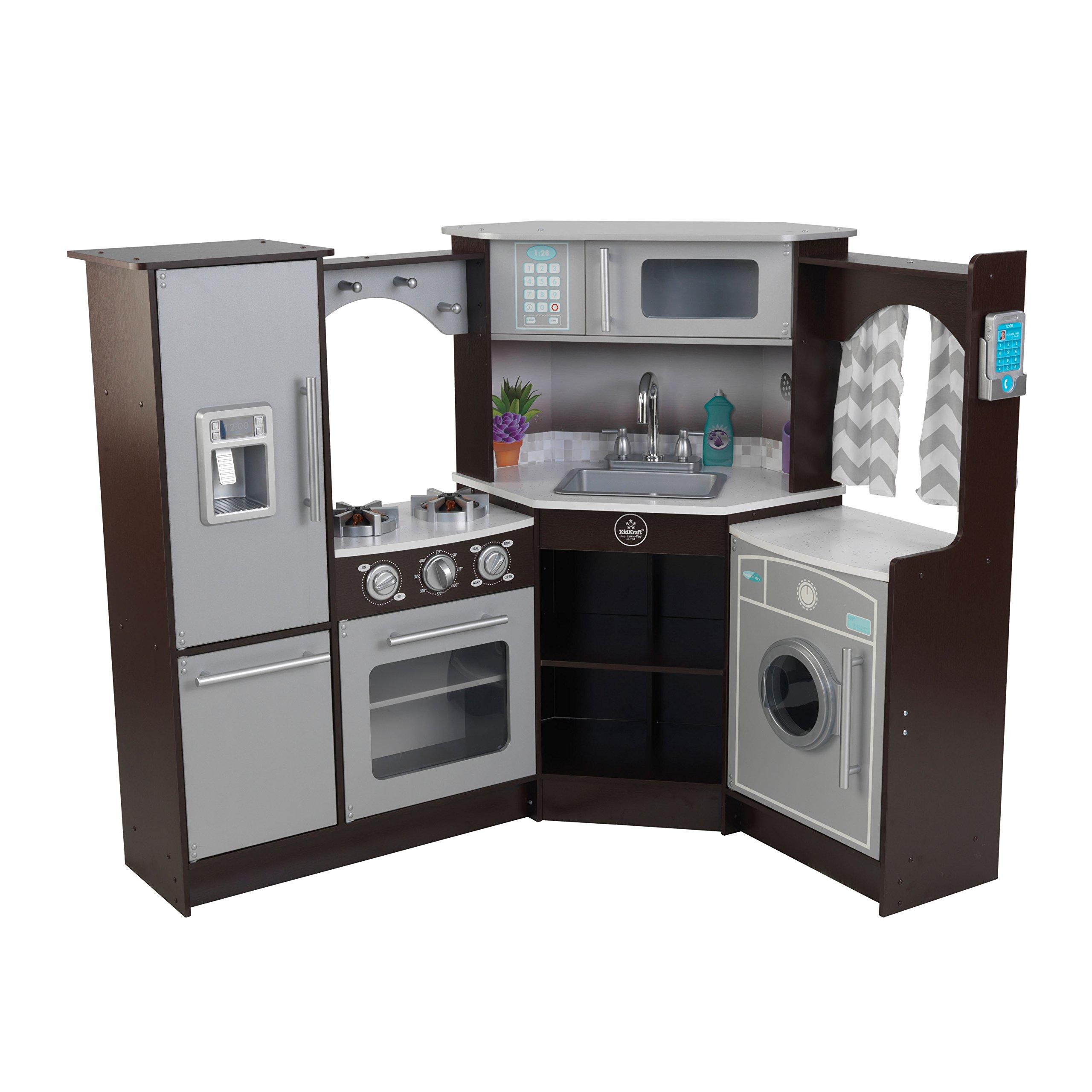 Купить Детская кухня KidKraft Duluxe big Эспрессо-Интерактив,