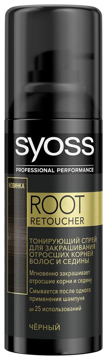 Тонирующий спрей Syoss Root Retoucher Черный