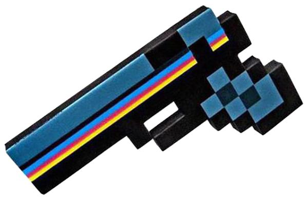 Купить Игровой набор Minecraft Пистолет Пиксельный черный 24 см,