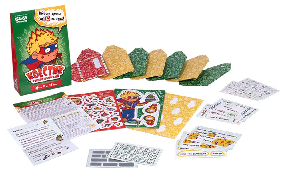 Купить Настольная игра Банда умников Квестик супергеройский Макс настольная игра, Банда Умников, Семейные настольные игры