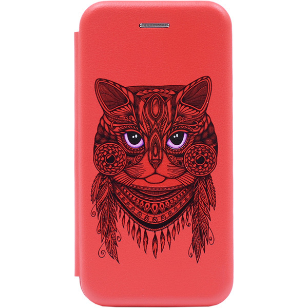 Чехол Gosso Cases для P Smart (2019) / Honor 10 Lite Red «Grand Cat»