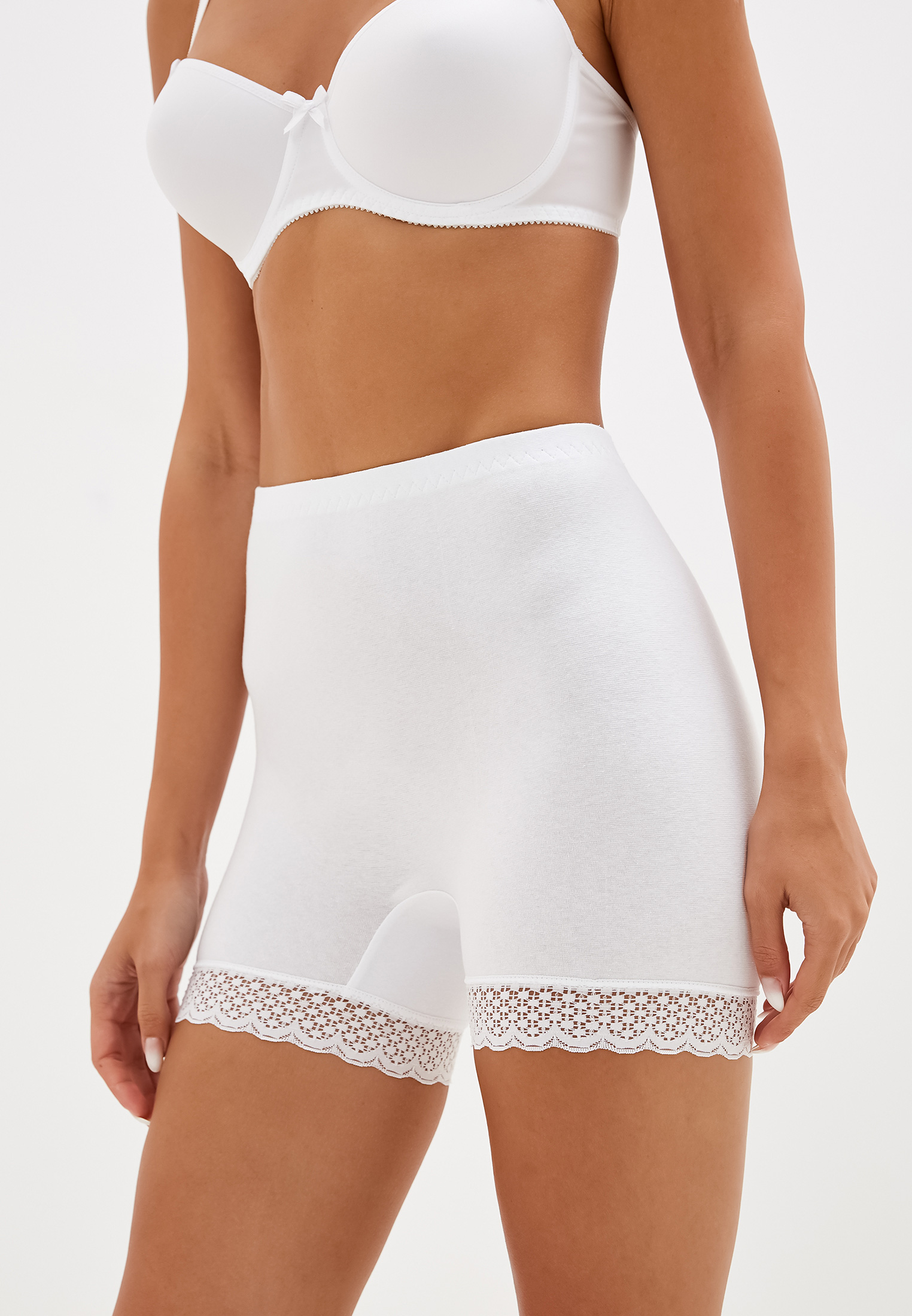 Панталоны женские НОВОЕ ВРЕМЯ T013 белые 44 RU
