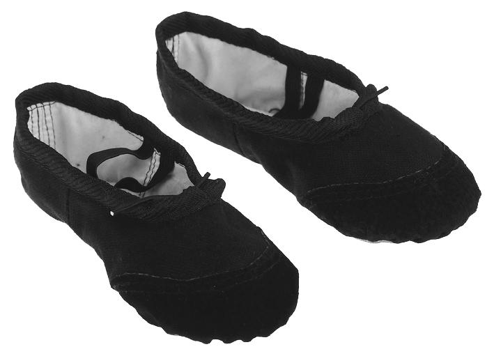 Купить 361927, Балетки гимнастические, размер 26, цвет чёрный Sima-Land, Детские туфли