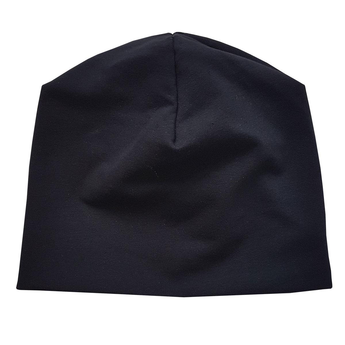 Купить Шапка Папитто футер черный, р. 52, Детские шапки