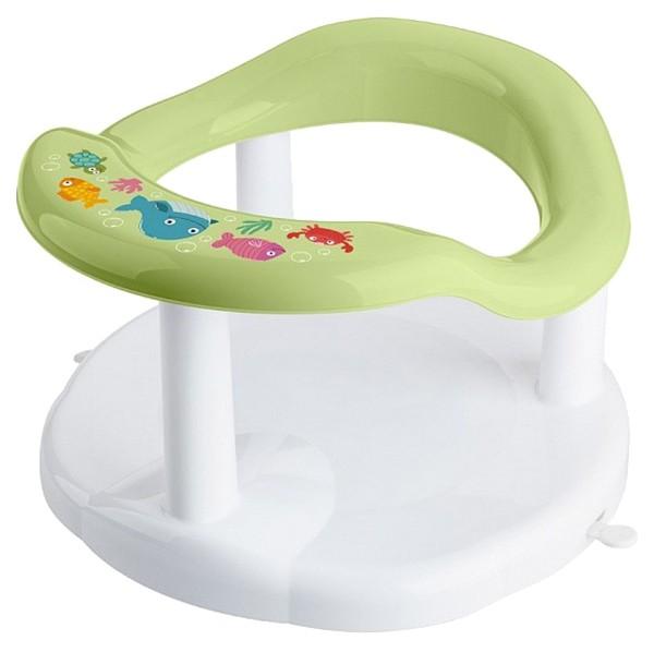 Купить Сиденье для купания детей, с аппликацией, зеленое, Бытпласт, Стульчики для купания малыша