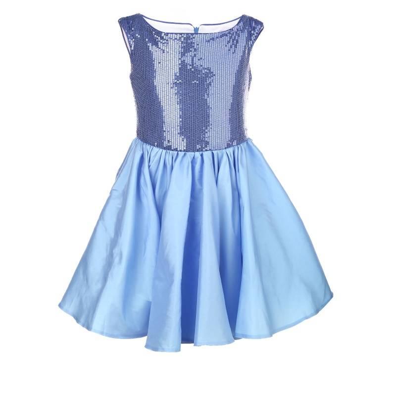 Купить 1557, Платье Лазурит UNONA D'ART, цв. голубой, 128 р-р, Платья для девочек