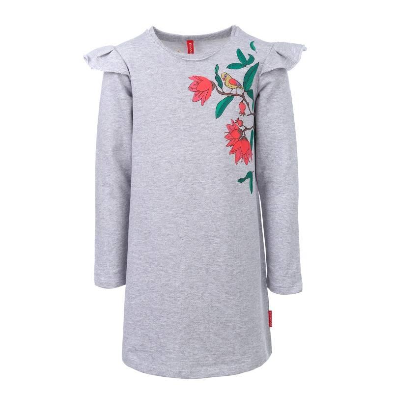 Купить Платье KOGANKIDS, цв. серый, 122 р-р, Детские платья и сарафаны