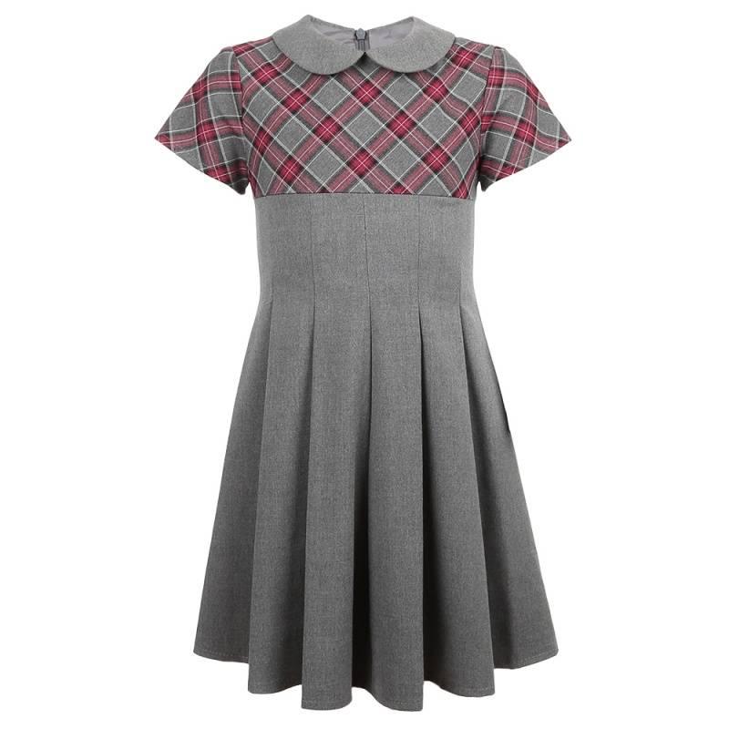 Купить ШФ-939, Платье SkyLake, цв. серый, 134 р-р, Платья для девочек