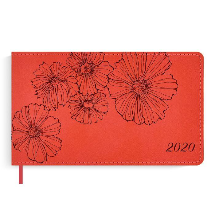 Еженедельник датированный Феникс+ 2020 Бейбискин красный 150 х 87 мм арт. 50493/20