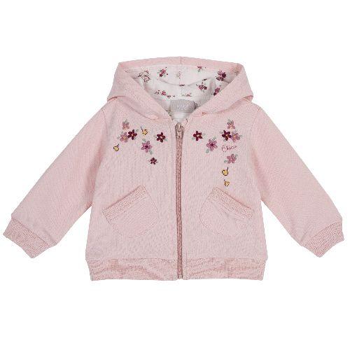Купить 9096934, Толстовка Chicco для девочек р.86 цв.розовый, Кофточки, футболки для новорожденных