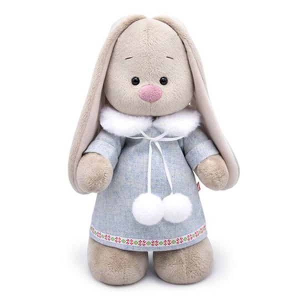 Купить Мягкая игрушка BUDI BASA StM-301 Зайка Ми в трикотажном платье 32см, Мягкие игрушки животные