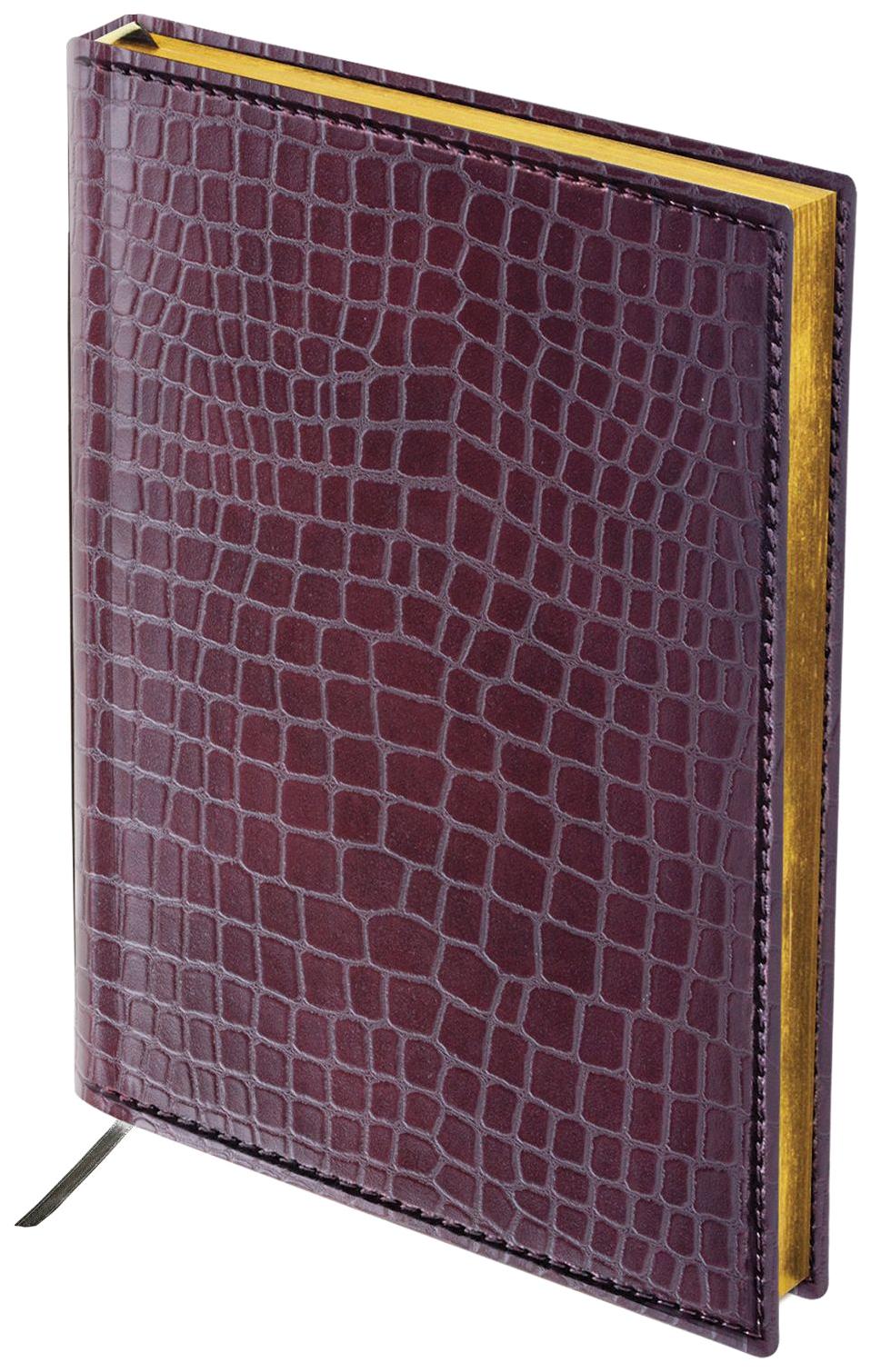 Ежедневник Brauberg «Alligator» полудатированный, А5, 192 листа, 148х218 мм Коричневый
