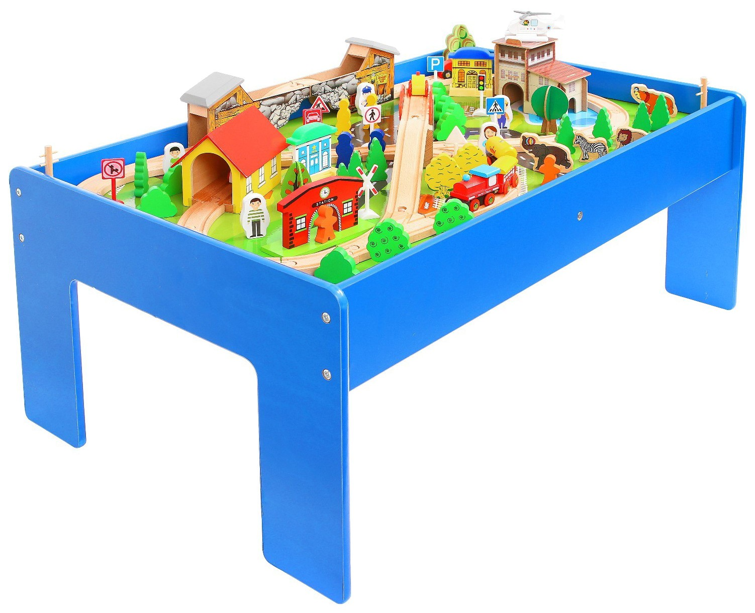 Купить Железная дорога Sima-land 108 элементов, Детские железные дороги
