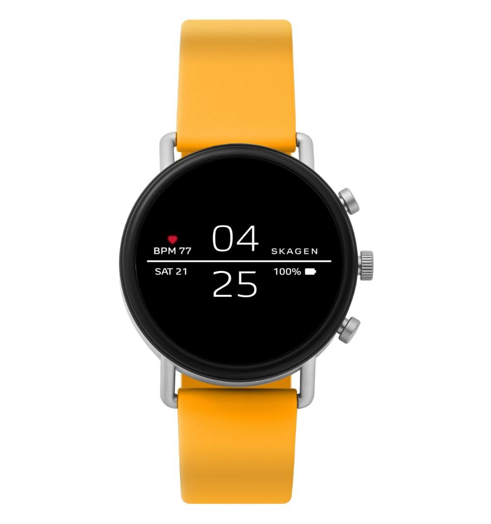 Смарт часы Skagen Falster Black/Yellow (SKT5115)