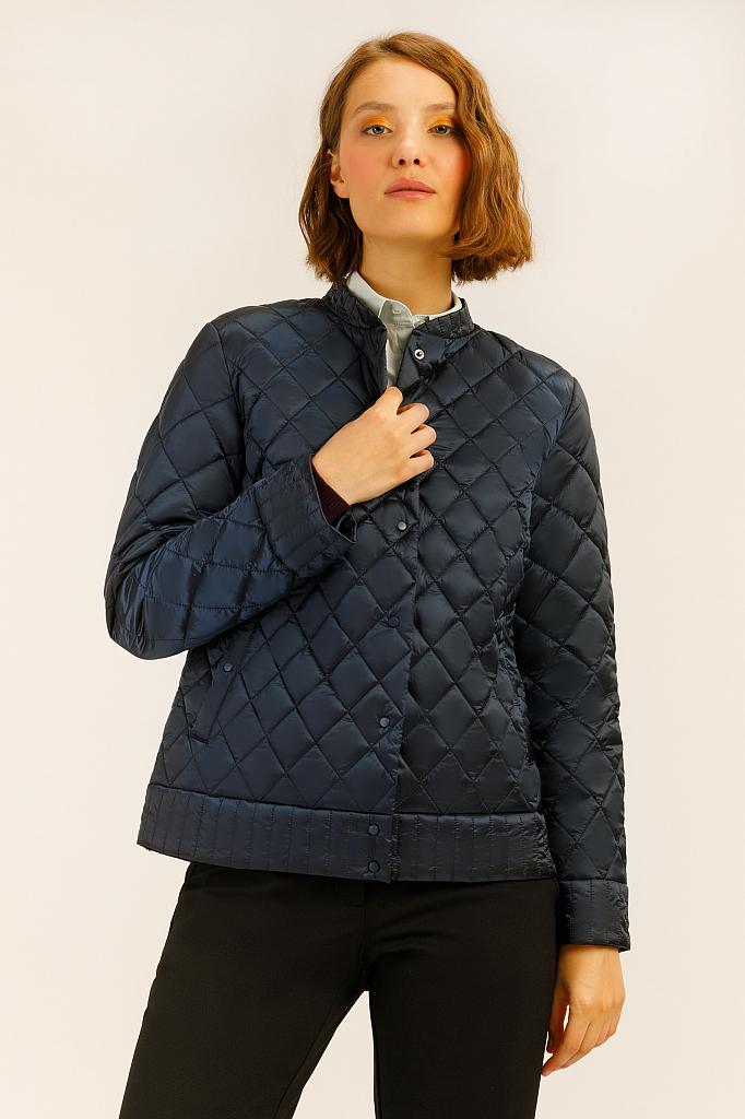 Куртка женская Finn Flare A19-12089 синяя M фото