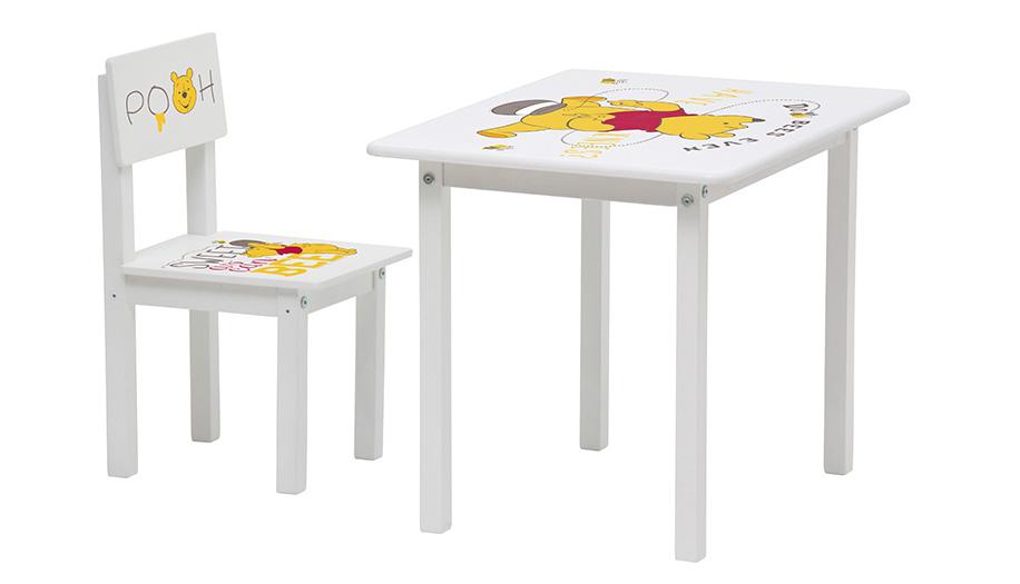 Купить Комплект детской мебели Polini Kids Disney baby 105 S Медвежонок Винни белый, Комплекты детской мебели