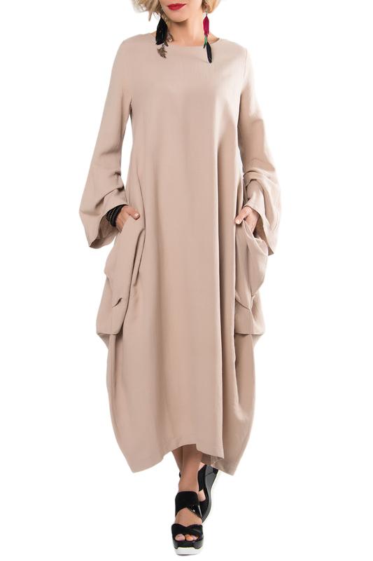Платье женское KATA BINSKA BRET 180433 бежевое 44-46 EU фото