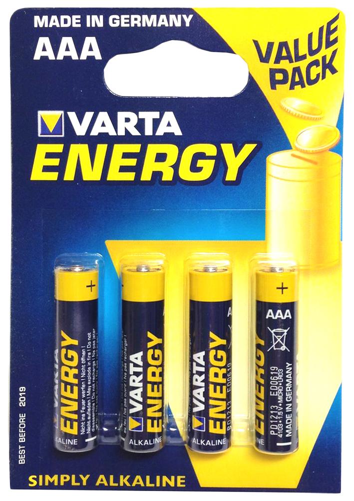 Батарейка Varta Energy LR03-4BL 4 шт фото
