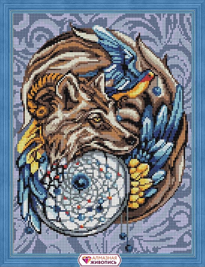 """Набор для изготовления картин """"Алмазная живопись"""" арт.АЖ.1592 """"Волшебный амулет"""" 30х40 см"""