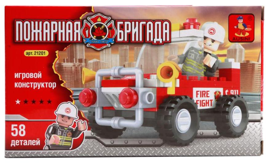 Конструктор пластиковый Ausuni Пожарная Машина С Фигуркой 21201 Simba