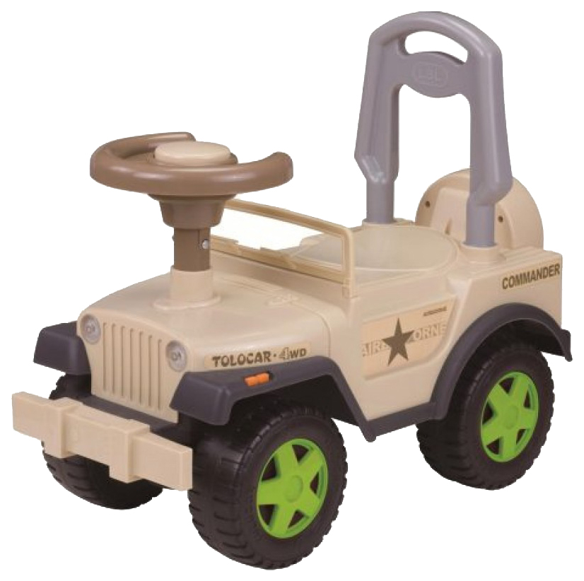 Машина-каталка Наша Игрушка Шериф бежевая, с гудком