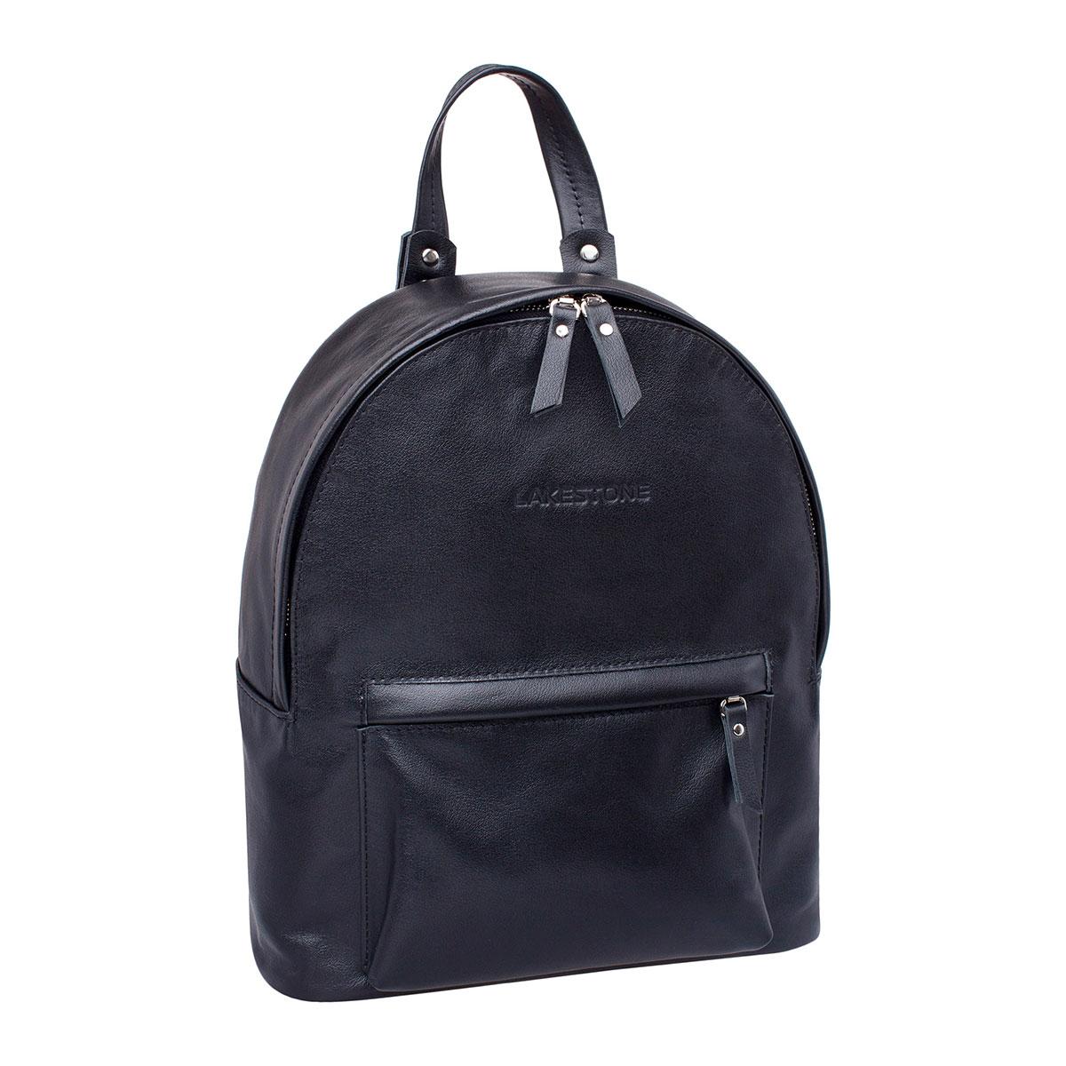 Рюкзак женский кожаный Lakestone 918101/BL фото