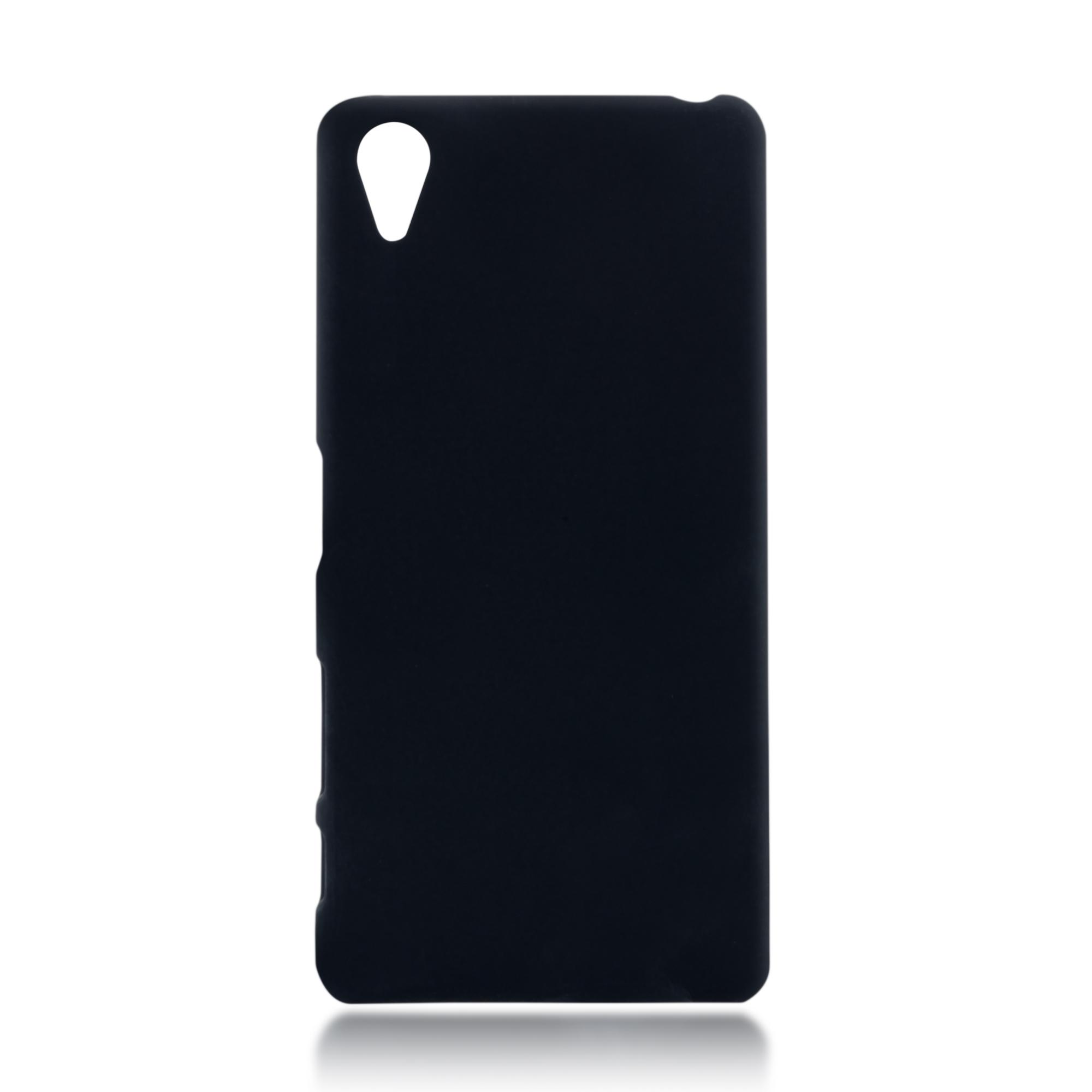 Пластиковая накладка Brosco Soft-touch для Sony Xperia X Perfomance, черная