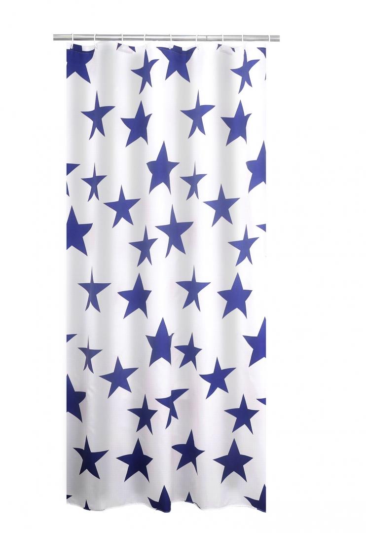 Штора для ванных комнат Star синий 180*200