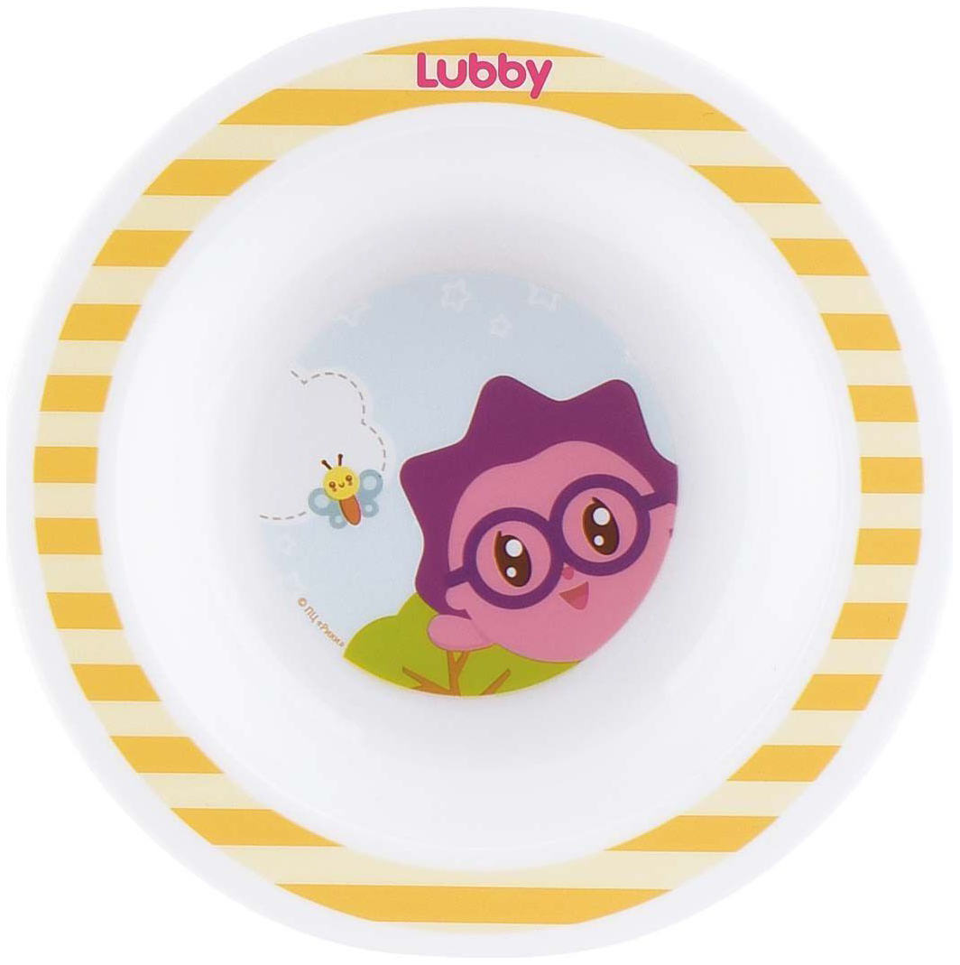 Купить Тарелка детская lubby new малышарики от 4 мес 200 мл желтый, Детские тарелки