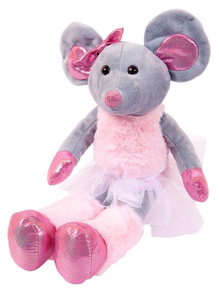 Купить Мягкая игрушка ABtoys Мышка в юбке 30 см M100, Мягкие игрушки животные