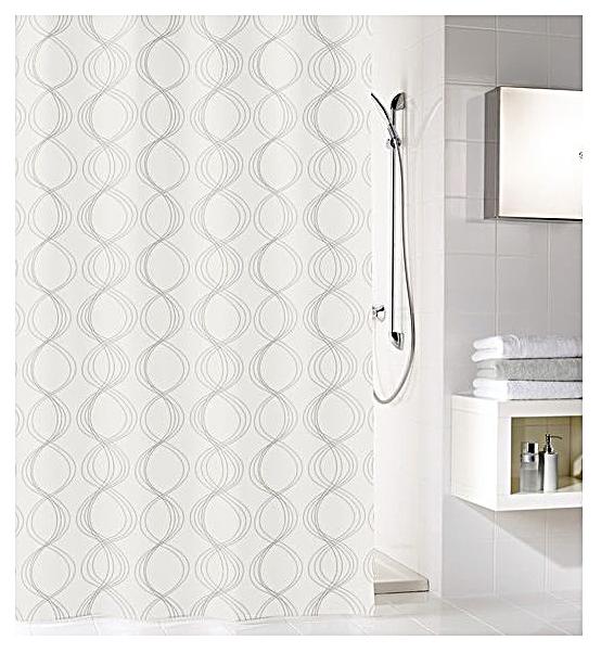 Штора для ванной Kleine Wolke Classy 5911100305 Белая по цене 2 920