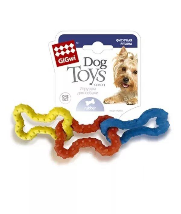 Жевательная игрушка для собак GiGwi 3 резиновых косточки, длина 15 см