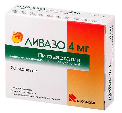 Купить Ливазо таблетки, покрытые пленочной оболочкой 4 мг 28 шт., Pierre Fabre