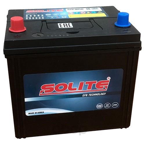 Аккумулятор автомобильный Solite EFBQ85R START-STOP 70A/ч 730А полярность прямая фото