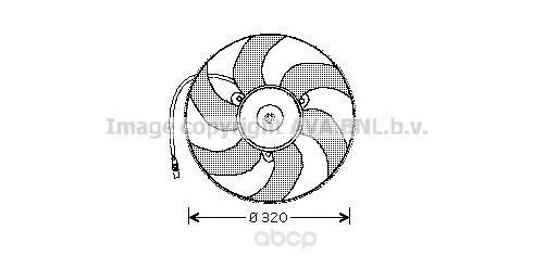 Вентилятор охлаждения двигателя Citroen XM Y4