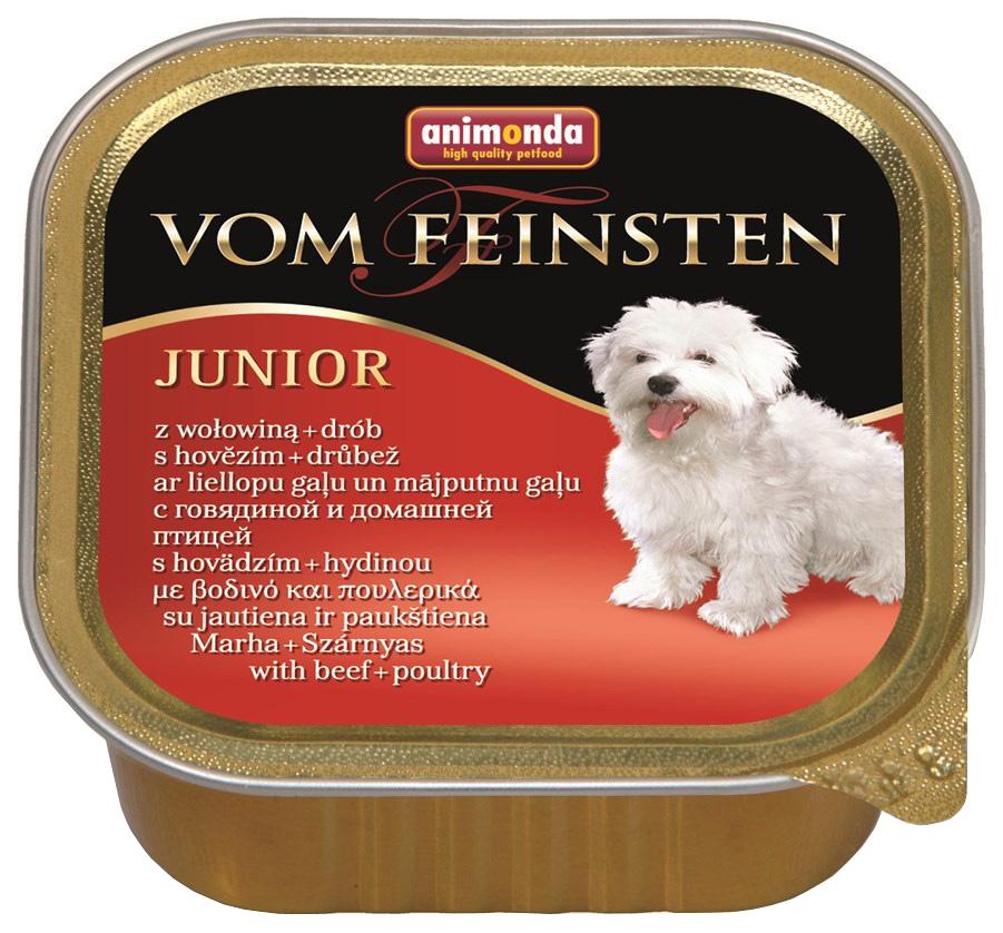 Консервы для щенков Animonda Vom Feinsten Junior, говядина, домашняя птица, 22шт, 150г фото