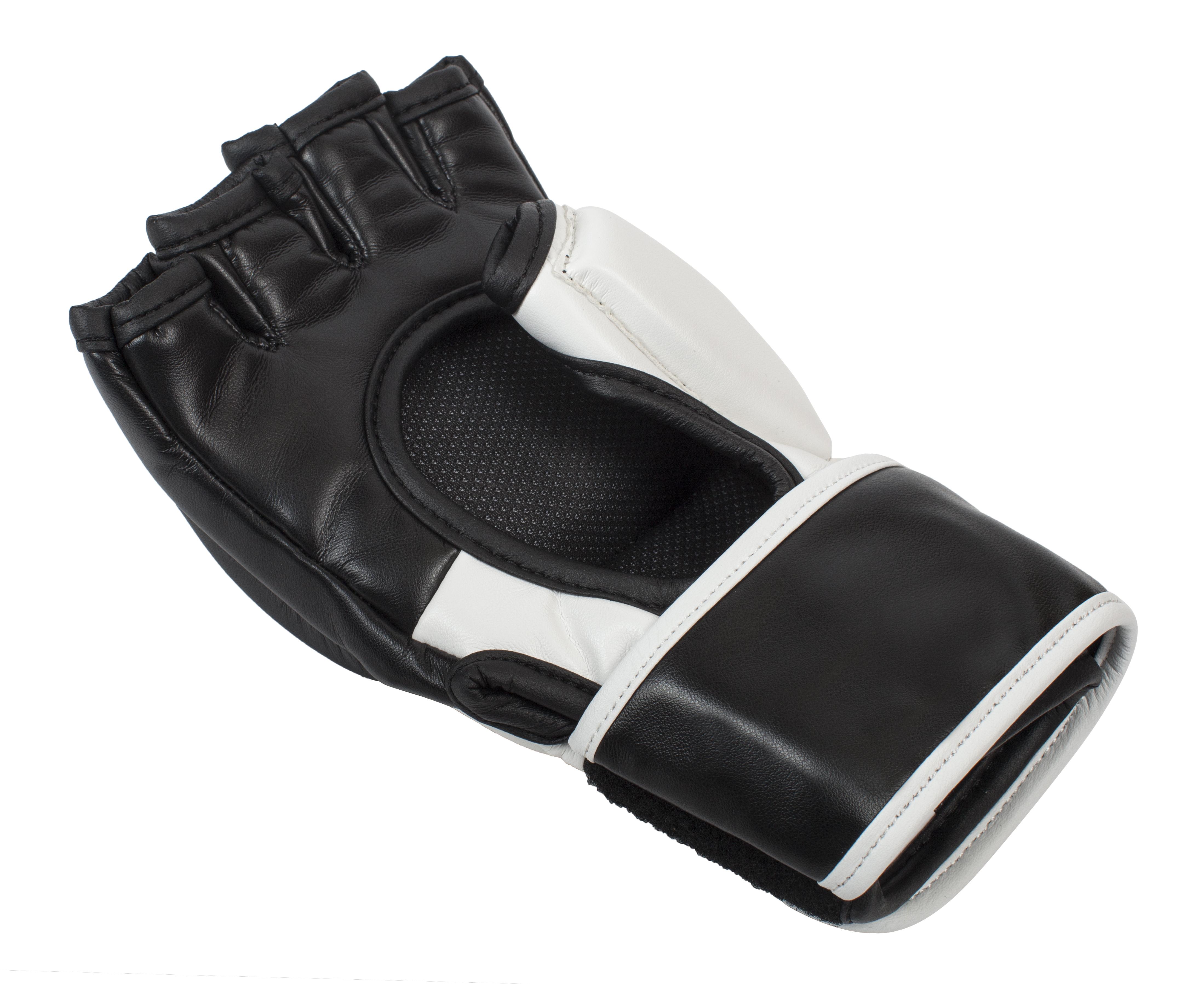 Перчатки для смешанных единоборств Clinch Combat черно-белые S/M