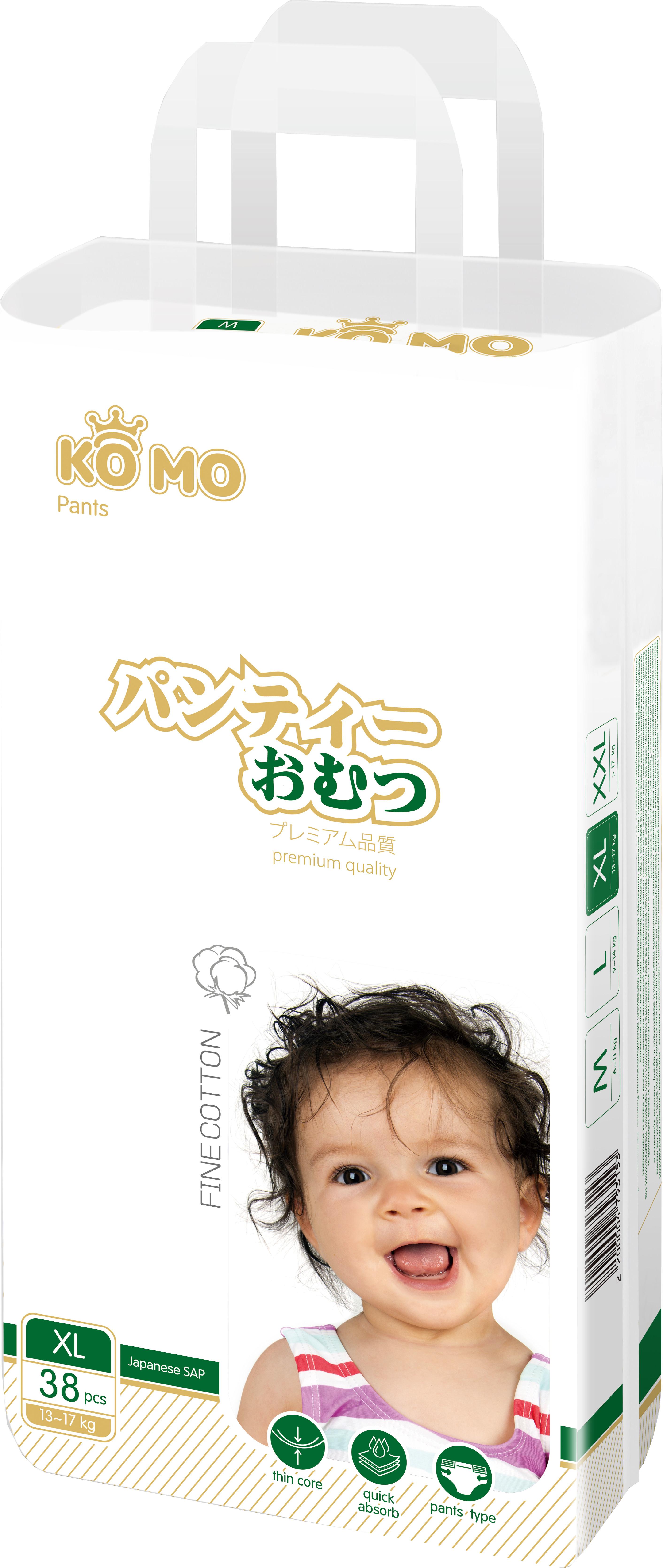 Купить Premium Quality, Трусики-подгузники Ko Mo XL 13-17 кг 38 шт., Подгузники-трусики