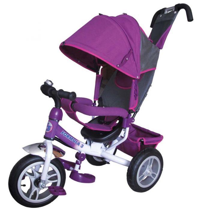 Купить Трехколесный велосипед Formula-3 с родительской ручкой фиолетовый FA3V, Shantou Gepai, Детские велосипеды-коляски