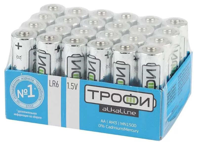 Батарейка щелочные Трофи AA LR6 24