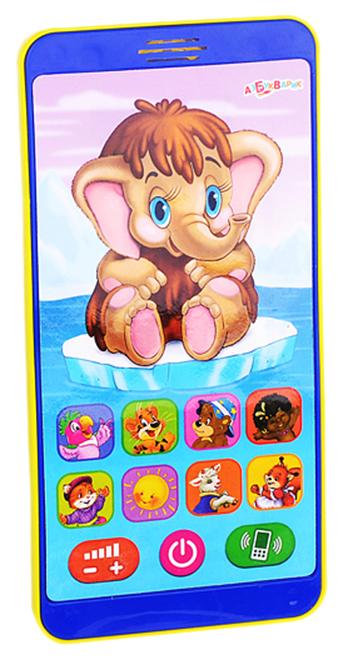 Купить Плеер Азбукварик Мой друг Мамонтенок Песенки мультяшек 28137-7 17 песенок, Интерактивные мягкие игрушки