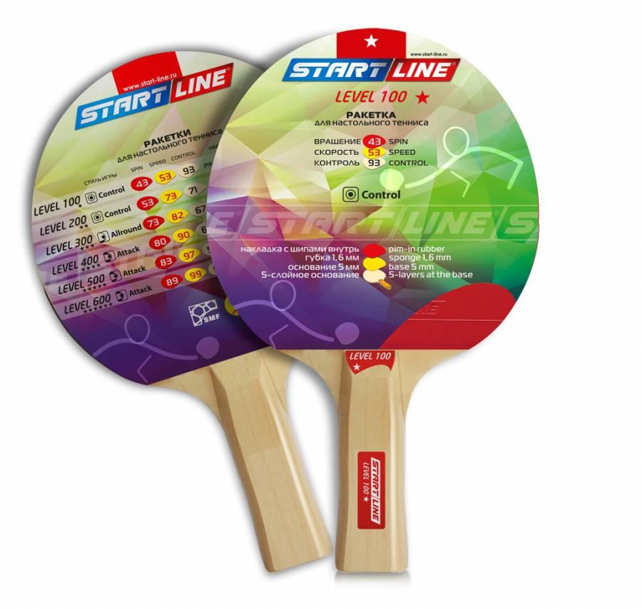Ракетка для настольного тенниса Start Line 12202 Level 100, черно-красная