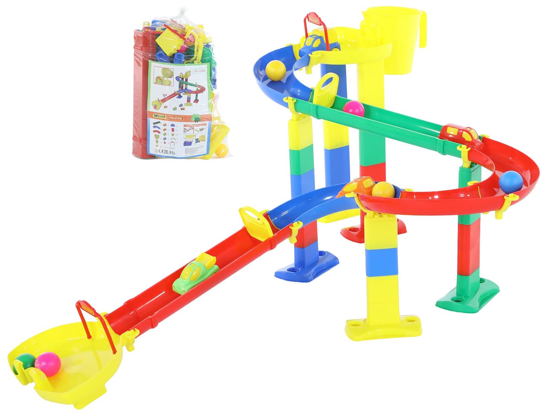 Купить Парковки, гаражи, автотреки, Автотрек Wader Горка для шариков набор №3 52902_PLS, Детские автотреки
