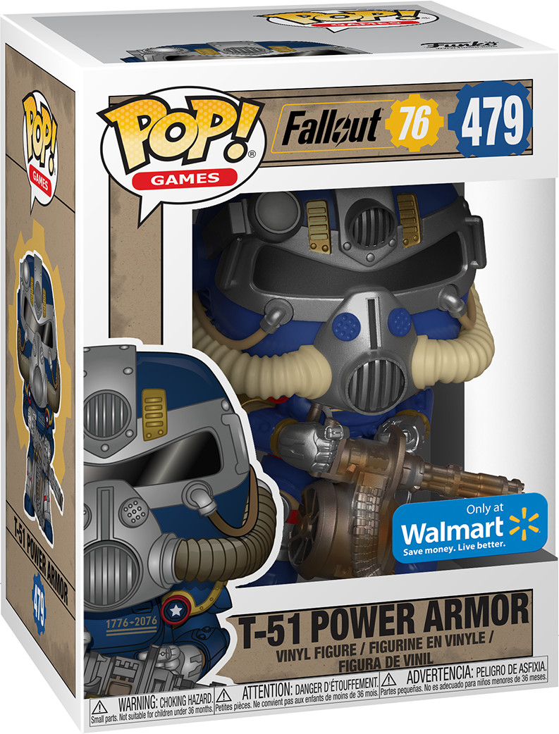 Фигурка Funko Fallout 76 - POP! Games - T-51 Power Armor Tricentennial Exc 9.5 см  фото
