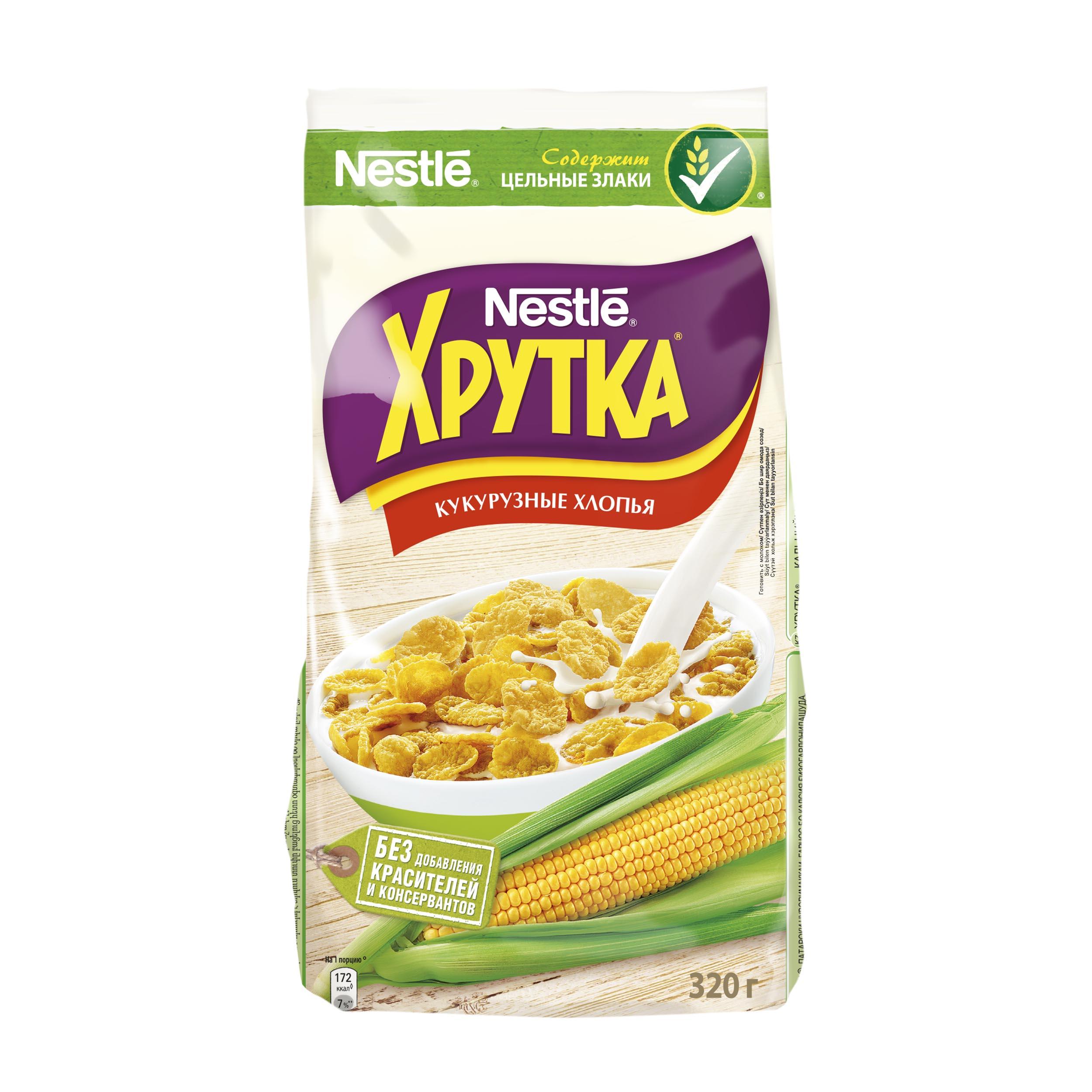 Завтрак Nestle хрутка кукурузные хлопья 320 г