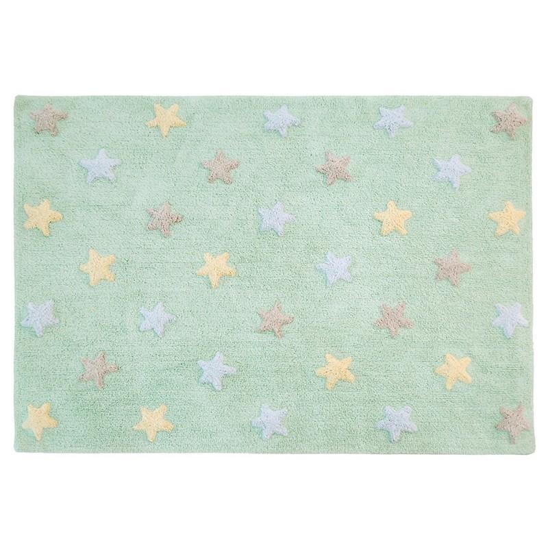 Ковер триколор звезды stars tricolor (мятный) 120*160