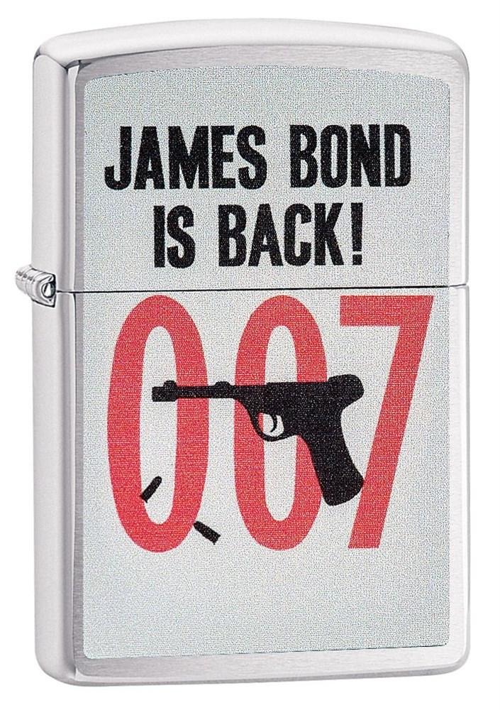 Зажигалка Zippo James Bond 007 Brushed Chrome фото