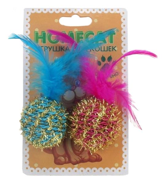 Игрушка для кошек Homecat Мячи блестящие