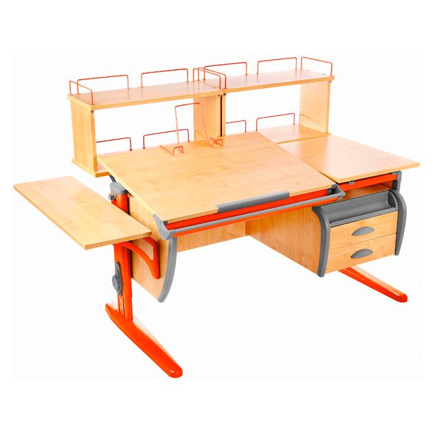 Парта Дэми СУТ 17-05Д2120 см+ клен, оранжевый,